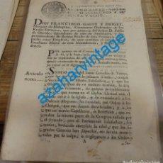 Manuscritos antiguos: 1768, MARQUES DE MALESPINA, COMUNICACION DE CLERIGOS MENORES PARA EXENCION DE IMPUESTOS,7 PAGINAS. Lote 141239614