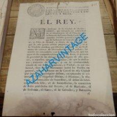 Manuscritos antiguos: 1766, INDULTO GENERAL CON EXCEPCIONES POR BODA DE LA PRINCESA DE PARMA DOÑA LUISA MARIA,4 PAGINAS. Lote 141341530