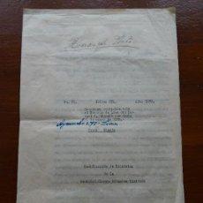 Manuscritos antiguos: PERÚ, MINAS, FAMILIA GOYENECHE ESTATUTOS SOCIEDAD MINERA ALPAMINA, YAULI, JUNÍN, PLATA, 1939, 24 PAG. Lote 141547222