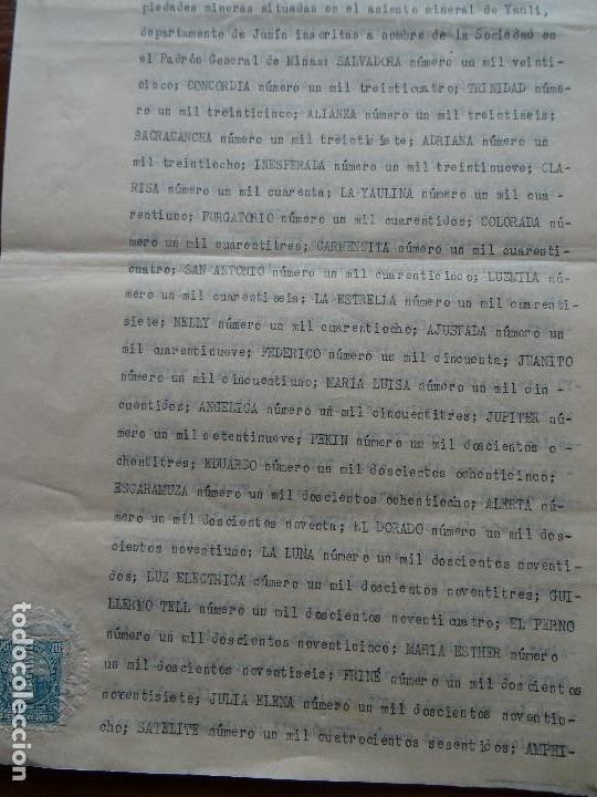 Manuscritos antiguos: Perú, minas, familia Goyeneche estatutos Sociedad Minera Alpamina, Yauli, Junín, plata, 1939, 24 pag - Foto 4 - 141547222