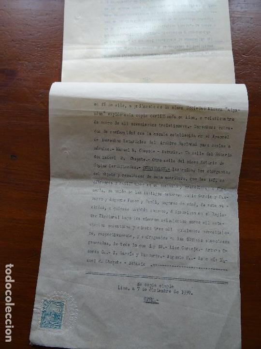 Manuscritos antiguos: Perú, minas, familia Goyeneche estatutos Sociedad Minera Alpamina, Yauli, Junín, plata, 1939, 24 pag - Foto 5 - 141547222
