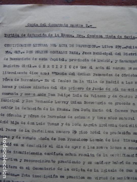 Manuscritos antiguos: Demanda Duquesa Medina Rioseco vs Capuchinos impugnando testamento Condesa de Gavia, 1949 - Foto 3 - 141548766