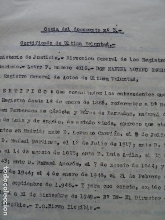 Manuscritos antiguos: Demanda Duquesa Medina Rioseco vs Capuchinos impugnando testamento Condesa de Gavia, 1949 - Foto 4 - 141548766