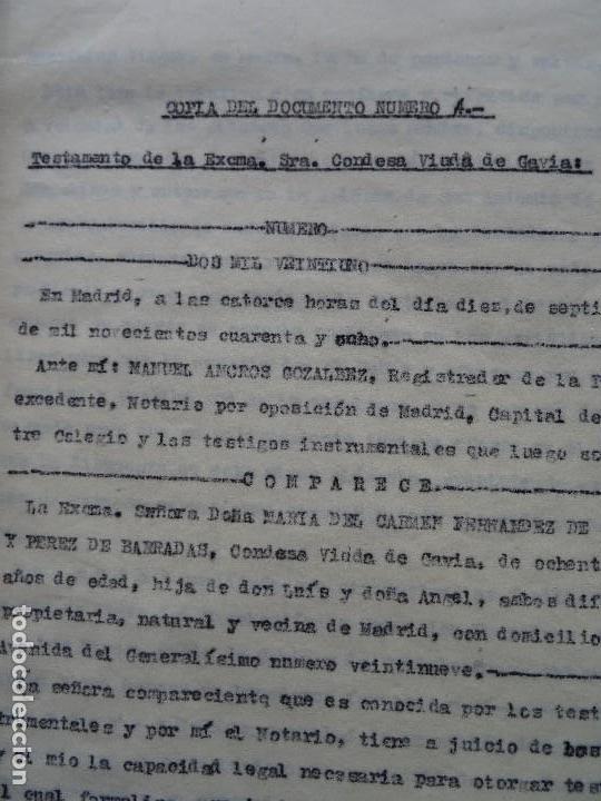 Manuscritos antiguos: Demanda Duquesa Medina Rioseco vs Capuchinos impugnando testamento Condesa de Gavia, 1949 - Foto 5 - 141548766
