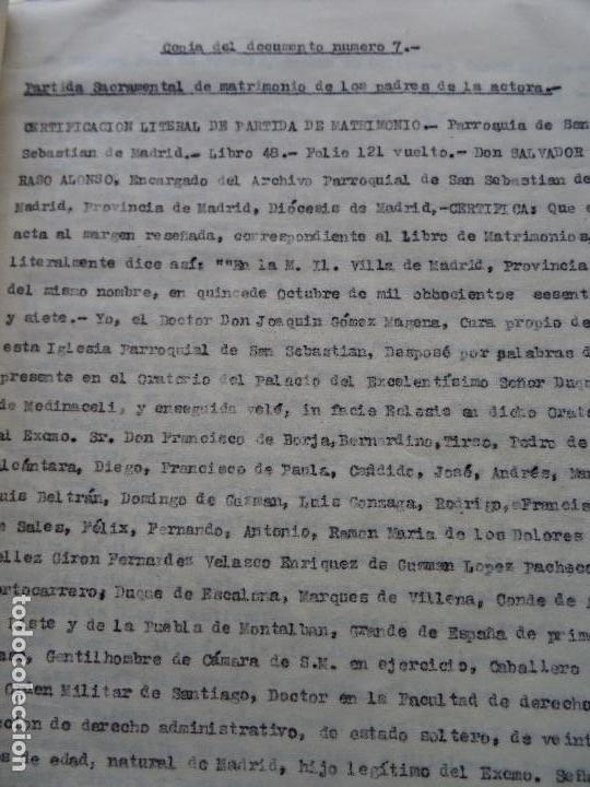 Manuscritos antiguos: Demanda Duquesa Medina Rioseco vs Capuchinos impugnando testamento Condesa de Gavia, 1949 - Foto 7 - 141548766