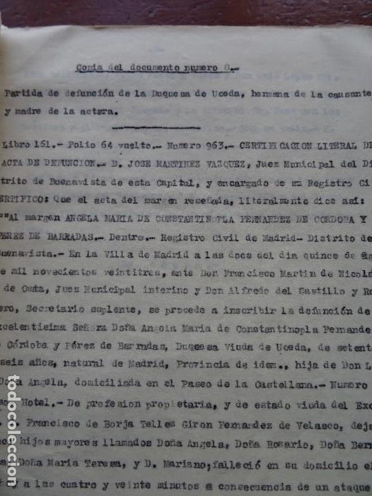 Manuscritos antiguos: Demanda Duquesa Medina Rioseco vs Capuchinos impugnando testamento Condesa de Gavia, 1949 - Foto 8 - 141548766