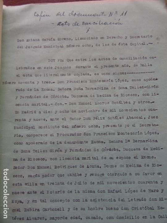 Manuscritos antiguos: Demanda Duquesa Medina Rioseco vs Capuchinos impugnando testamento Condesa de Gavia, 1949 - Foto 9 - 141548766