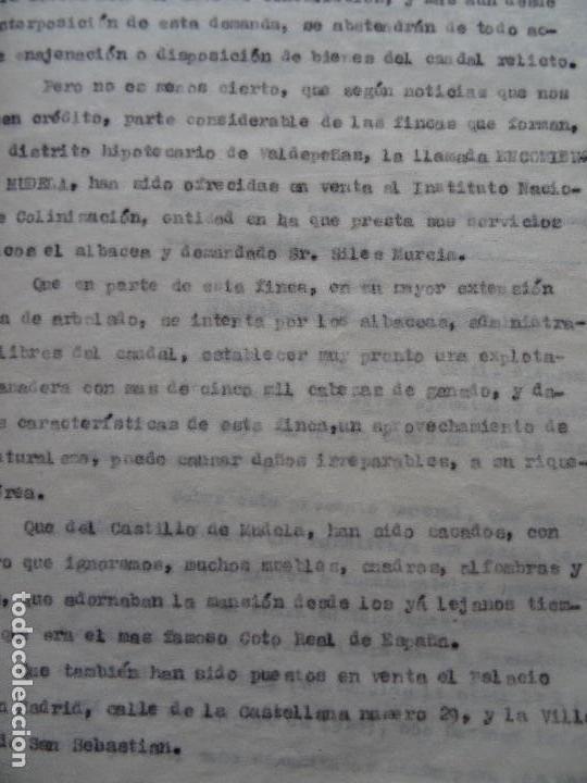 Manuscritos antiguos: Demanda Duquesa Medina Rioseco vs Capuchinos impugnando testamento Condesa de Gavia, 1949 - Foto 10 - 141548766