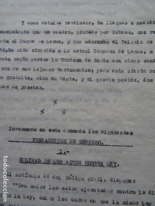 Manuscritos antiguos: Demanda Duquesa Medina Rioseco vs Capuchinos impugnando testamento Condesa de Gavia, 1949 - Foto 11 - 141548766