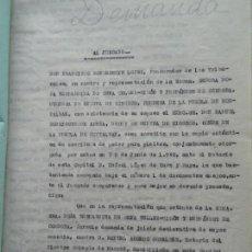 Manuscritos antiguos: DEMANDA DUQUESA MEDINA RIOSECO VS CAPUCHINOS IMPUGNANDO TESTAMENTO CONDESA DE GAVIA, 1949. Lote 141548766