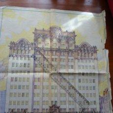 Manuscritos antiguos: ARQUITECTURA, PERÚ, CASA FAMILIA GOYENECHE EN LIMA, 6 PLANOS Y DIBUJO FACHADA. Lote 158016849