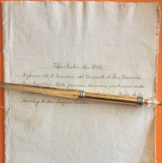 Manuscritos antiguos: VELEZ RUBIO- ALMERIA- MANUSCRITO 1.804 - CONVENTO DE SAN FRANCISCO. Lote 141912706