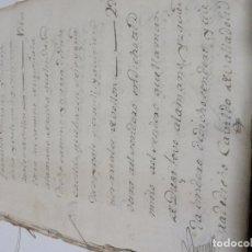 Manuscritos antiguos: LOTE MANUSCRITOS SIGLO XVIIII PROVINCIA VALLADOLID MAS DE 100 PAGINAS BONITAS FIRMAS Y TIMBRES. Lote 142819714