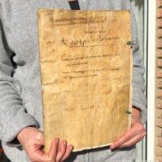 Manuscritos antiguos: 1700 CALDES DE MONTBUI - BARCELONA - MANUSCRITO - PERGAMINO - OBRA PÍA - 108 PAG. EN FOLIO. Lote 143044738