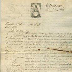 Manuscritos antiguos: 1870 BENASAL, MAESTRAZGO, CASTELLON. CONDE SAMITIER NO QUIERE QUE LOS REBAÑOS ENTREN EN SUS TIERRAS. Lote 143112678