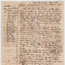Manuscritos antiguos: MANUSCRITO FECHADO EN 1935 SOBRE INSTAURACIÓN REPÚBLICA EN AYUNTAMIENTO D BARACALDO 14 ABRIL DE 1931. Lote 143152290