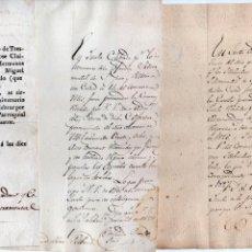 Manuscritos antiguos: TRES DOC. ALUDIENDO A LA COFRADÍA SACRAMENTAL DE SAN JUSTO Y PASTOR DE SALAMANCA, 1819/28/29. . Lote 144240830