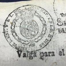 Manuscritos antiguos: FISCAL. DESPACHOS DE OFICIO JOSÉ NAPOLEÓN 1811, HABILITADO 1812. GUERRA INDEPENDENCIA. Lote 144997810