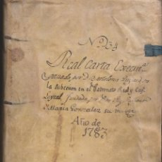Manuscritos antiguos: REAL CARTA EJECUTORIA DE CAPELLANÍA REAL EN TERÁN, VALLE DE CABUÉRNIGA, CANTABRIA 1783. Lote 145192382