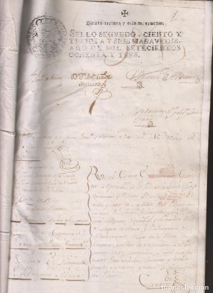 Manuscritos antiguos: REAL CARTA EJECUTORIA DE CAPELLANÍA REAL EN TERÁN, VALLE DE CABUÉRNIGA, CANTABRIA 1783 - Foto 2 - 145192382