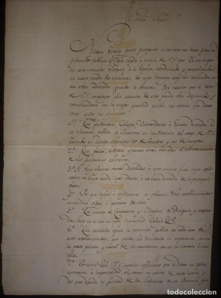MANUEL GODOY - PRÍNCIPE DE LA PAZ - CARTA DE 1807 AL INTENDENTE DE SEVILLA (Coleccionismo - Documentos - Manuscritos)