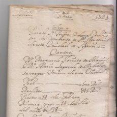 Manuscritos antiguos: CENSO DEL CONVENTO DE SAN AGUSTÍN DE LOGROÑO, 1737. RIOJA. Lote 145918050