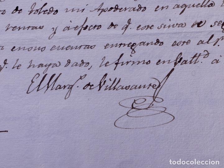 MARQUÉS DE VILLASANTE. CARRION DE LOS CONDES 1825 (Coleccionismo - Documentos - Manuscritos)
