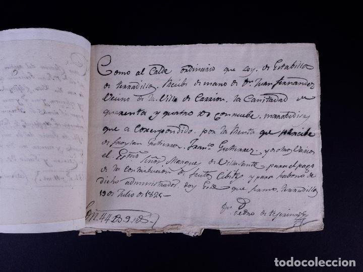 Manuscritos antiguos: MARQUÉS DE VILLASANTE. CARRION DE LOS CONDES 1825 - Foto 4 - 145997342