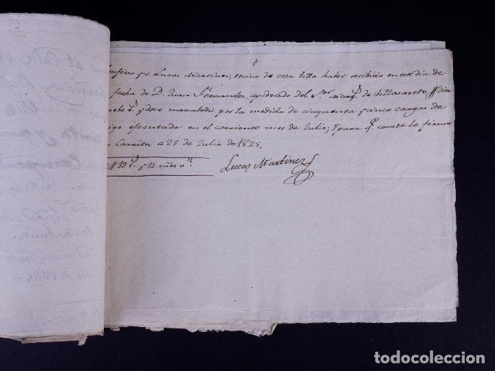 Manuscritos antiguos: MARQUÉS DE VILLASANTE. CARRION DE LOS CONDES 1825 - Foto 5 - 145997342