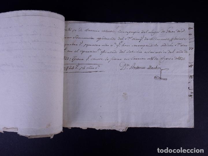 Manuscritos antiguos: MARQUÉS DE VILLASANTE. CARRION DE LOS CONDES 1825 - Foto 6 - 145997342