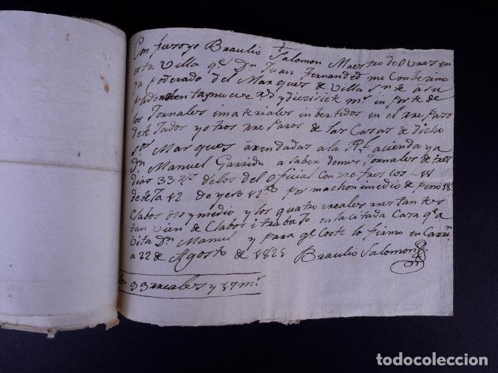 Manuscritos antiguos: MARQUÉS DE VILLASANTE. CARRION DE LOS CONDES 1825 - Foto 7 - 145997342