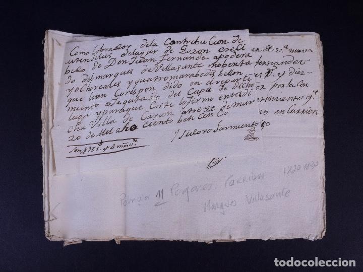 Manuscritos antiguos: MARQUÉS DE VILLASANTE. CARRION DE LOS CONDES 1825 - Foto 9 - 145997342