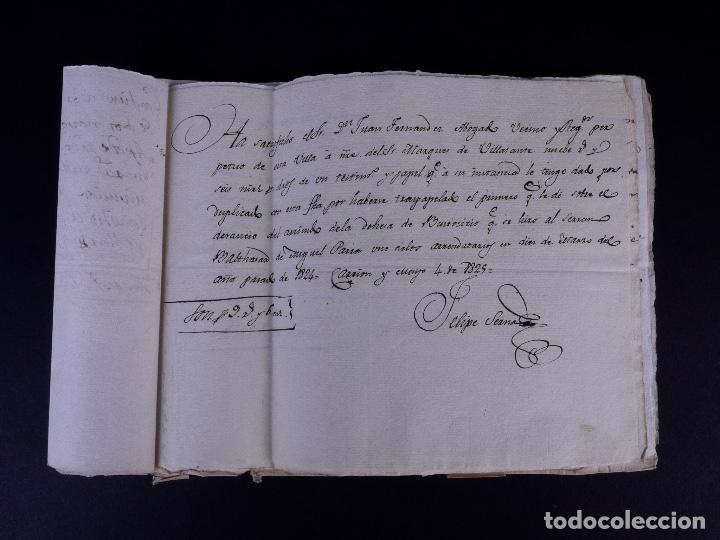 Manuscritos antiguos: MARQUÉS DE VILLASANTE. CARRION DE LOS CONDES 1825 - Foto 11 - 145997342