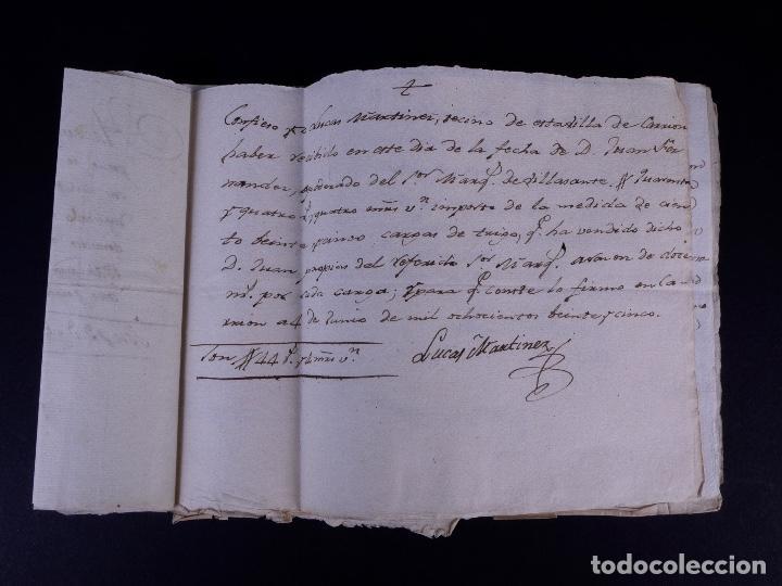 Manuscritos antiguos: MARQUÉS DE VILLASANTE. CARRION DE LOS CONDES 1825 - Foto 12 - 145997342