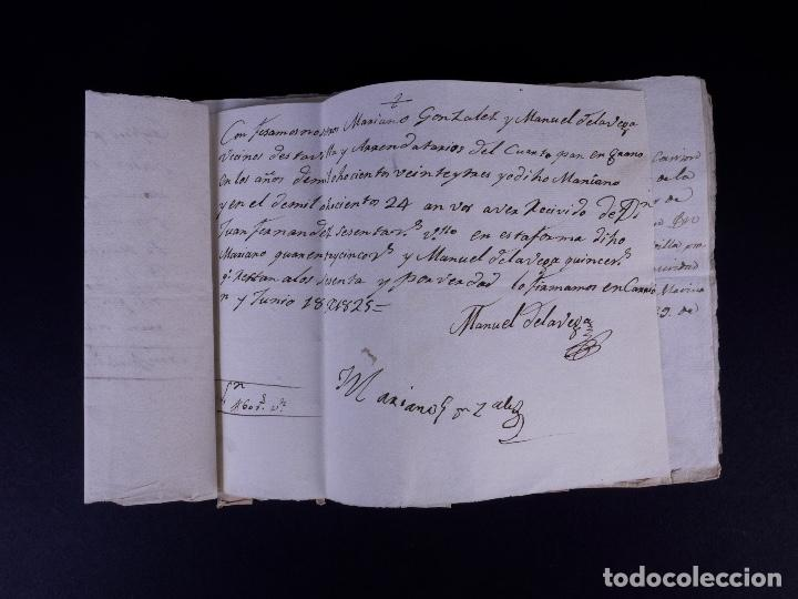 Manuscritos antiguos: MARQUÉS DE VILLASANTE. CARRION DE LOS CONDES 1825 - Foto 13 - 145997342