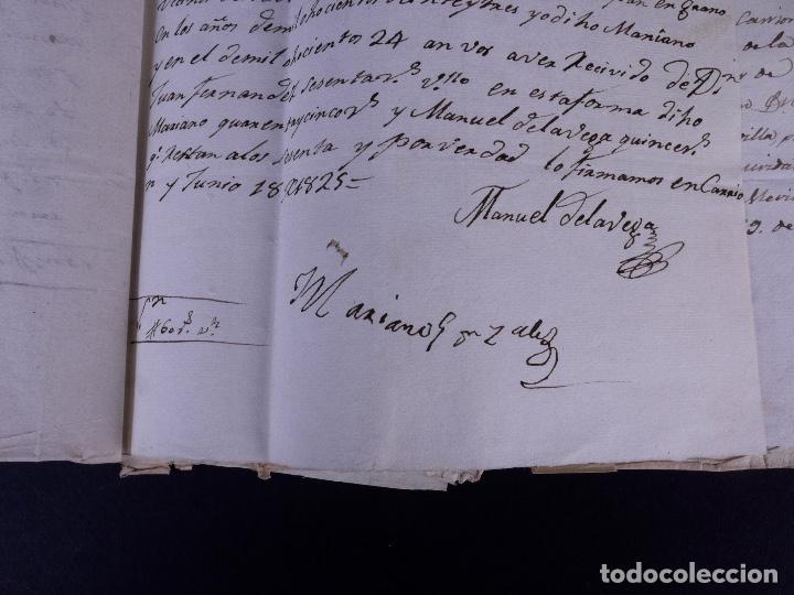 Manuscritos antiguos: MARQUÉS DE VILLASANTE. CARRION DE LOS CONDES 1825 - Foto 14 - 145997342