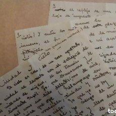 Manuscritos antiguos: CARMEN CONDE. TEXTO LITERARIO INÉDITO. MANUSCRITO. POEMA EN PROSA. FIRMADO. BARCELONA,1932. Lote 146075550