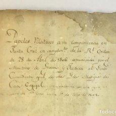 Manuscritos antiguos: [MISCELÁNEA DOCUMENTAL SOBRE LA CARRERA DE UN FISCAL DE LA AUDIENCIA ESPAÑOLA EN CANARIAS Y MÉXICO].. Lote 146394866