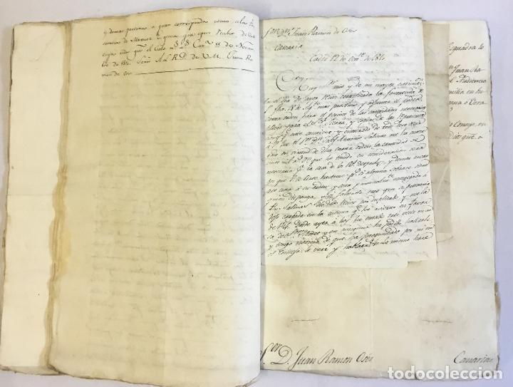 Manuscritos antiguos: [MISCELÁNEA DOCUMENTAL SOBRE LA CARRERA DE UN FISCAL DE LA AUDIENCIA ESPAÑOLA EN CANARIAS Y MÉXICO]. - Foto 11 - 146394866