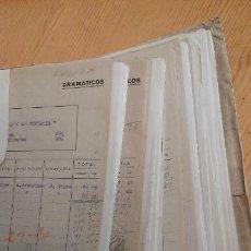 Manuscritos antiguos: ARCHIVO TEATRAL MUÑOZ SECA. GUERRA CIVIL. MANUSCRITO. MECANOESCRITO. SGAE, TEATRO, COMPAÑÍAS. Lote 146493950
