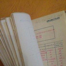 Manuscritos antiguos: TEATRO, COMPAÑÍAS, ARCHIVO TEATRAL. SGAE MUÑOZ SECA. MANUSCRITO MECANOESCRITO GUERRA CIVIL. Lote 146493950