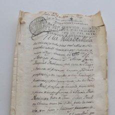 Manuscritos antiguos: 1769, DOCUMENTO DE COMPRA-VENTA. 8 PÁGINAS. SELLO DE 136 MARAVEDÍS. Lote 146562298
