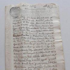 Manuscritos antiguos: 1769, DOCUMENTO DE VENTA DE TIERRAS AL INFANTE FERNANDO, DUQUE DE PARMA . Lote 146563598