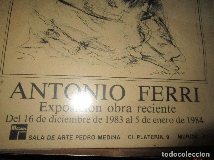 Manuscritos antiguos: PINTURA VALENCIANA ANTIGUO CARTEL PINTOR DE VALENCIA ANTONIO FERRI EXPOSICIION MURCIA 1983 - Foto 2 - 146598326