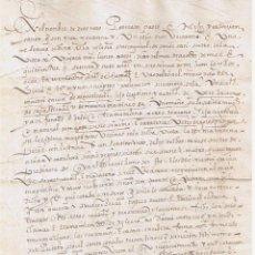 Manuscritos antiguos: MANUSCRITO DE 1577 MATRIMONIALES DE MARTIN GARCIA DE SAGASTIZABAL CON. Lote 146628086