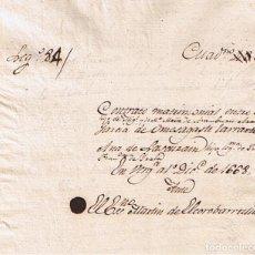Manuscritos antiguos: MANUSCRITO DE 1668 LINAJE LASCURAIN-ORUESAGASTI MATRIMONIALES. Lote 146628990