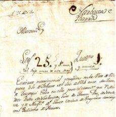 Manuscritos antiguos: MANUSCRITO DE 1561 LINAJE NARBAYZA-IBARRA DE ANDRES PEREZ DE NARBAYZA . Lote 146629362