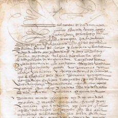 Manuscritos antiguos: MANUSCRITO DE 1556 CASA SOLAR NARVAYZA TESTAMENTO DE JUAN PEREZ DE NARBAYZA. Lote 146630098