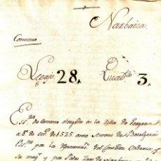 Manuscritos antiguos: MANUSCRITO DE 1525 CONVENIO ENTRE CONTADOR ORDANZA Y PEDRO RUIZ NARBAYZA. Lote 146631762