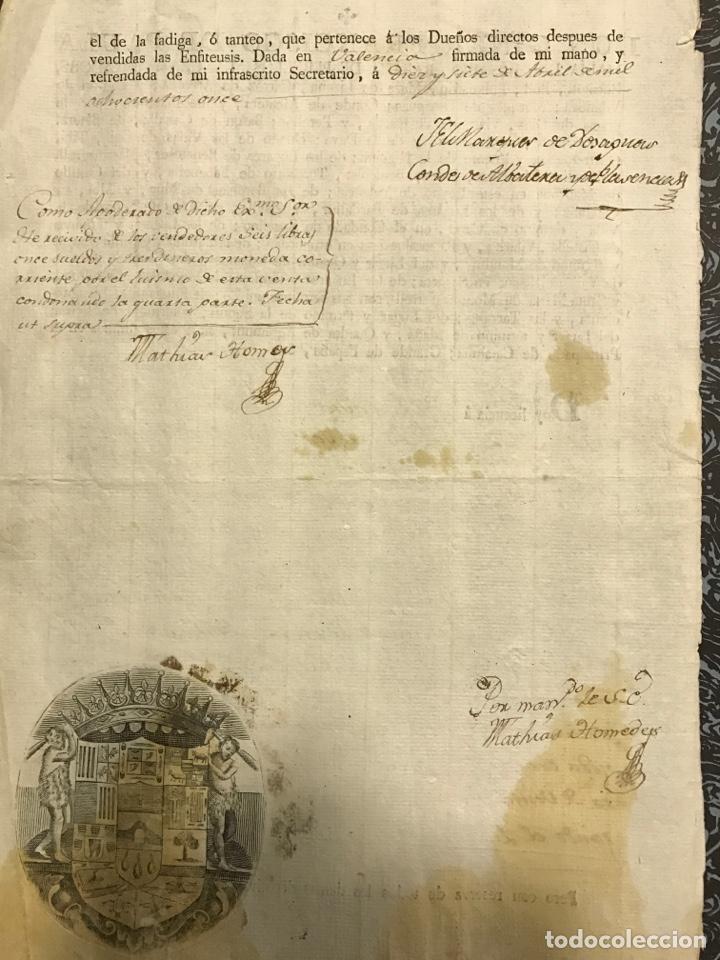 Manuscritos antiguos: Valencia. Bétera.1811. Marqués de Dos Aguas - Foto 2 - 146633456